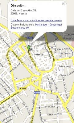 Visita a Huesca: situación del restaurante La Campana